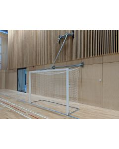 Wall fixed up-folding Futsal / Handball goals