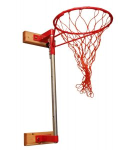 Netball ring - wall fixed - adjustable height