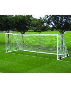 Heavyweight freestanding steel football goals