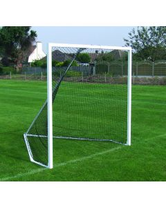 Freestanding steel lacrosse goals