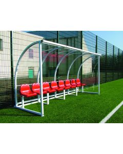 Premier curved team shelters