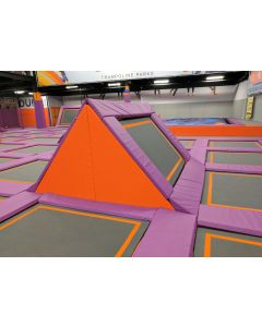Angled trampolines