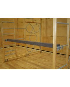 Balance beam with hooks both ends