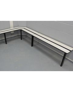 Wall to floor bench seating