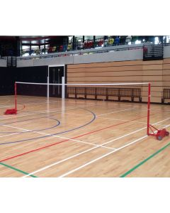 Competition badminton posts. BWF approved. From Continental Sports Ltd