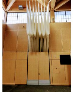 Sports hall netting storage solutions