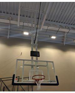 DualTube FIBA 2 ceiling retractable basketball goals
