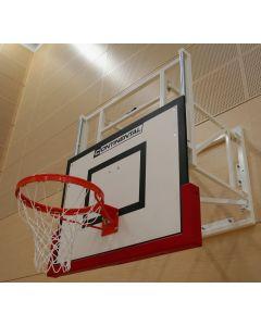 Height adjustable basketball goals wall mounted