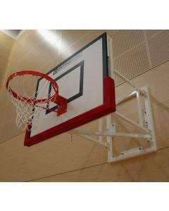 Basketball goals - hydraulic height adjustment