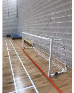 Wall anchors for indoor goals