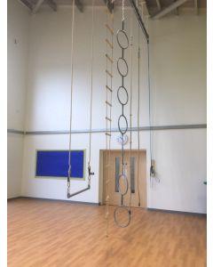 Overhead rope trackway