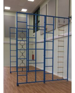 """""""Two-in-One"""" steel wall hinged climbing frame"""