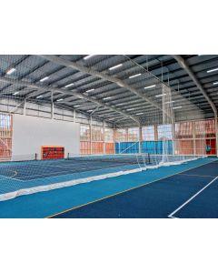 Indoor tennis hall divider netting