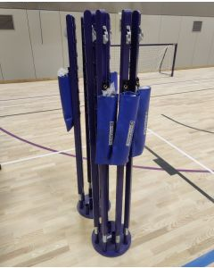 Socketed badminton post storage base to suit Continental Sports BWF approved competition socketed badminton posts