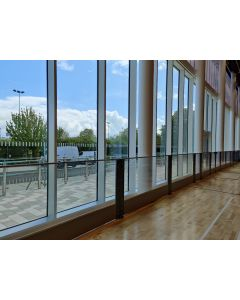 Transparent polycarbonate sports hall rebound boards