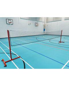 Badminton posts. Sports hall. Freestanding. School model