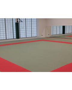 International Judo Tatami combat area with safety surround