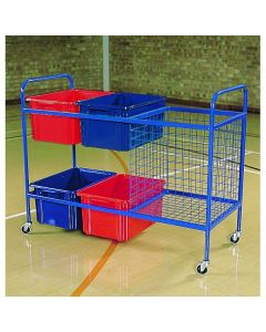 Large PE and sports equipment storage trolley