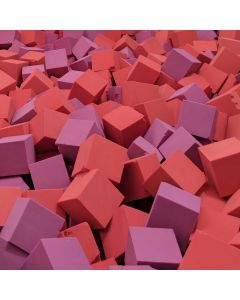 Pit foam cubes and logs