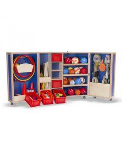 Roll-n-Play mobile PE equipment storage unit