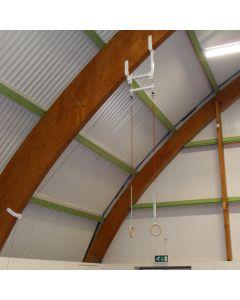 Roof mounted height adjustable handrings