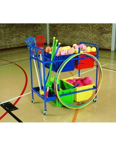 Standard PE equipment storage trolley