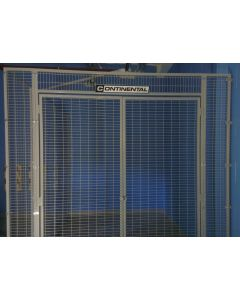 Mesh storage cage for sports hall secure storage