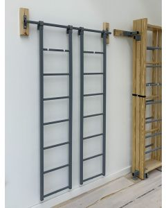 Storage rail for climbing frame accessories
