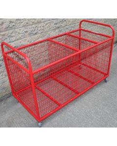 Sports equipment storage trolley