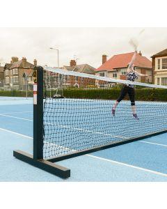 Steel freestanding tennis posts