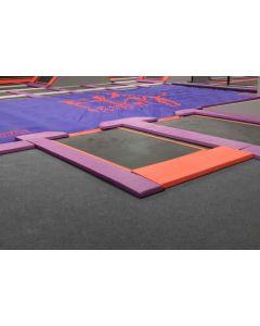 Dismount pit entry - trampoline