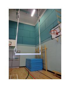 Trapeze for wall hinged rope-frame