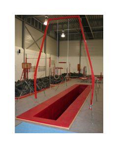 U-shaped dismount pit