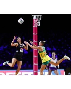 Netball post padding. Vitality Netball padding as used at the Netball World Cup