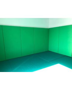 Wall padding for calming rooms