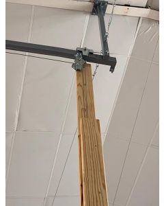 Single double pull out cantilever beam with travelling upright