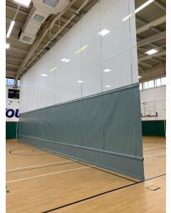Sports hall vertical divider curtain - PVC base with scrim mesh above