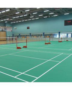 Badminton posts. Competition. Wheelaway, freestanding