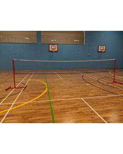 Badminton posts. Standard. Wheelaway, freestanding
