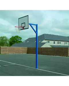 Heavy duty socketed basketball goals