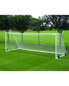 Heavyweight freestanding steel football goals
