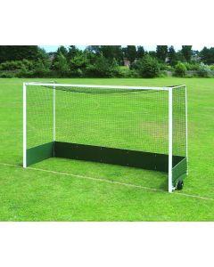 Freestanding steel hockey goals