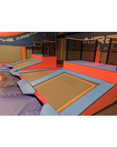 Dismount pit entry - 15º angled trampoline