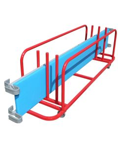 Bridging equipment storage trolley