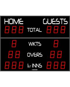 Outdoor cricket scoreboard - 18 digits