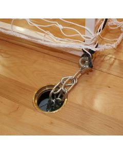 Floor anchors for indoor goals