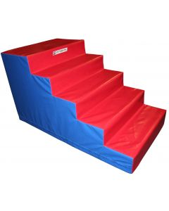 Trampoline foam access steps
