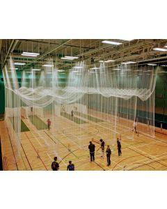 Indoor cricket practice netting