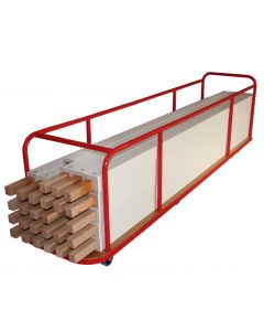 Hockey sideboard storage trolley