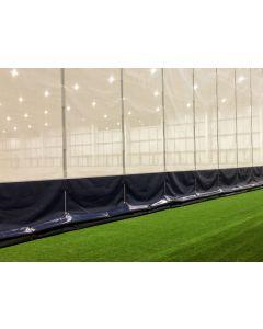 Sports hall vertical divider net